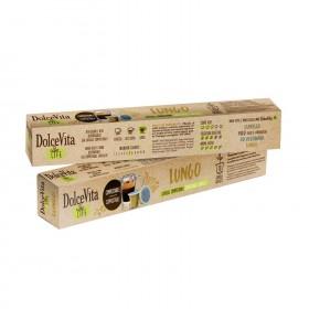 Dolce Vita Lungo 100% rozložiteľné kapsule pre Nespresso 10x5,5g